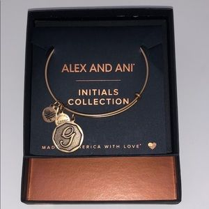 NWT 'G' Alex and Ani Bracelet-initials collection